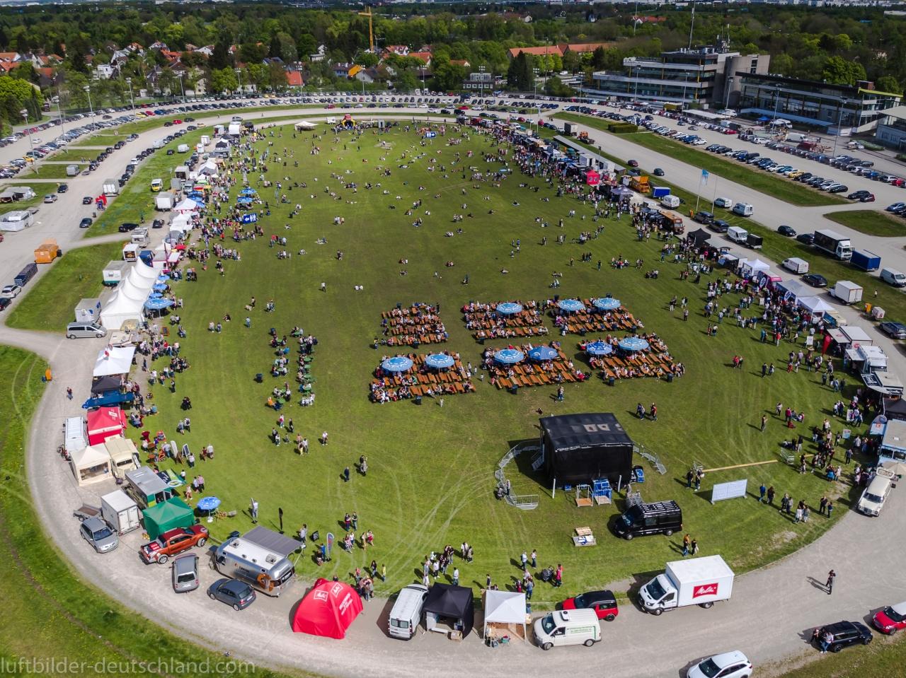 Foodtruck Festival München Luftbild, luftbilder-deutschland.com
