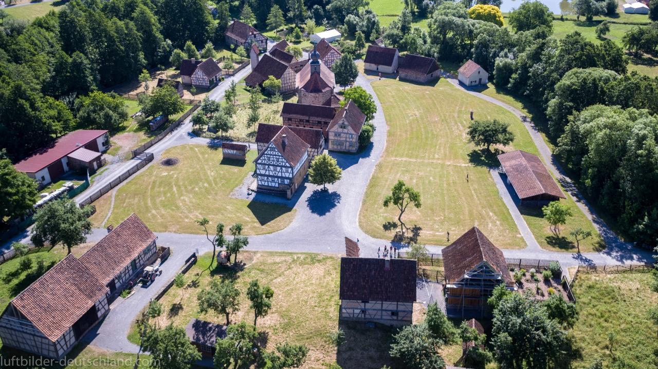 Luftbild Freilandmuseum Fladungen, Fladungen, luftbilder-deutschland.com
