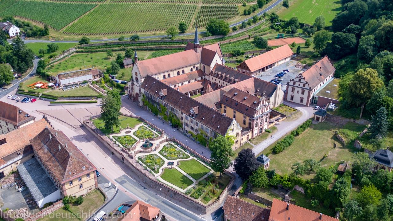 Luftbilder Kloster Bronnbach, Bronnbach, Wertheim, luftbilder-deutschland.com