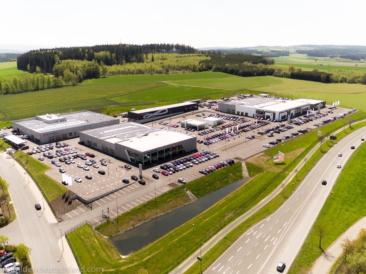 Motor Nützel Hof, VW, Audi, Skoda, luftbilder-deutschland.com