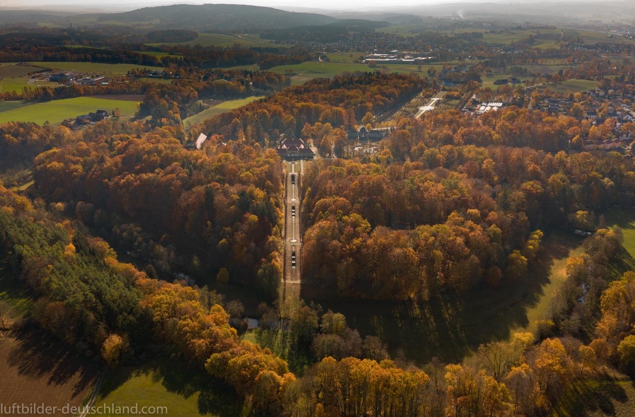 Eremitage Bayreuth Luftbild, luftbilder-deutschland.com