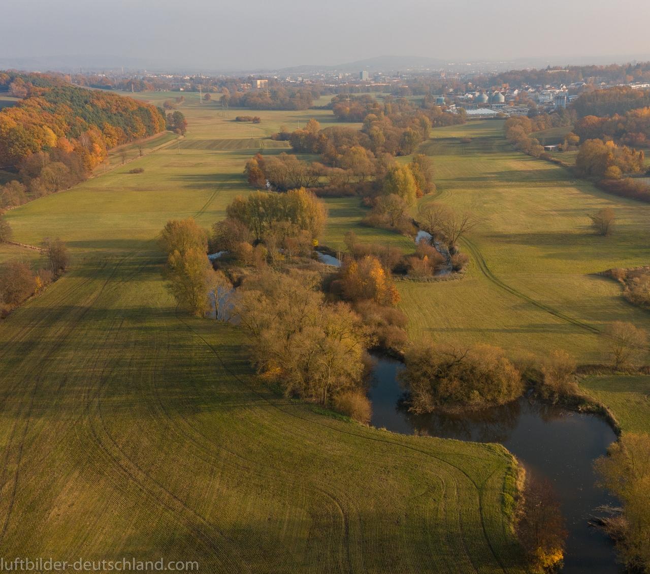 Rot-Main-Auen-Weg, Bayreuth, Heinersreuth, Neudrossenfeld, luftbilder-deutschland.com