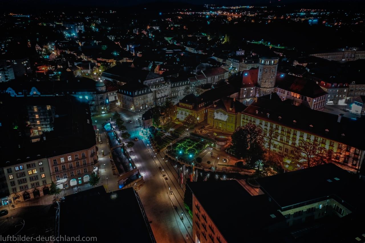 Bayreuth bei Nacht, luftbilder-deutschland.com, OliverRiess