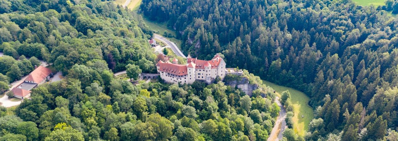 Luftbilder Burg Rabenstein, Fränkische Schweiz, luftbilder-deutschland.com © OliverRiess