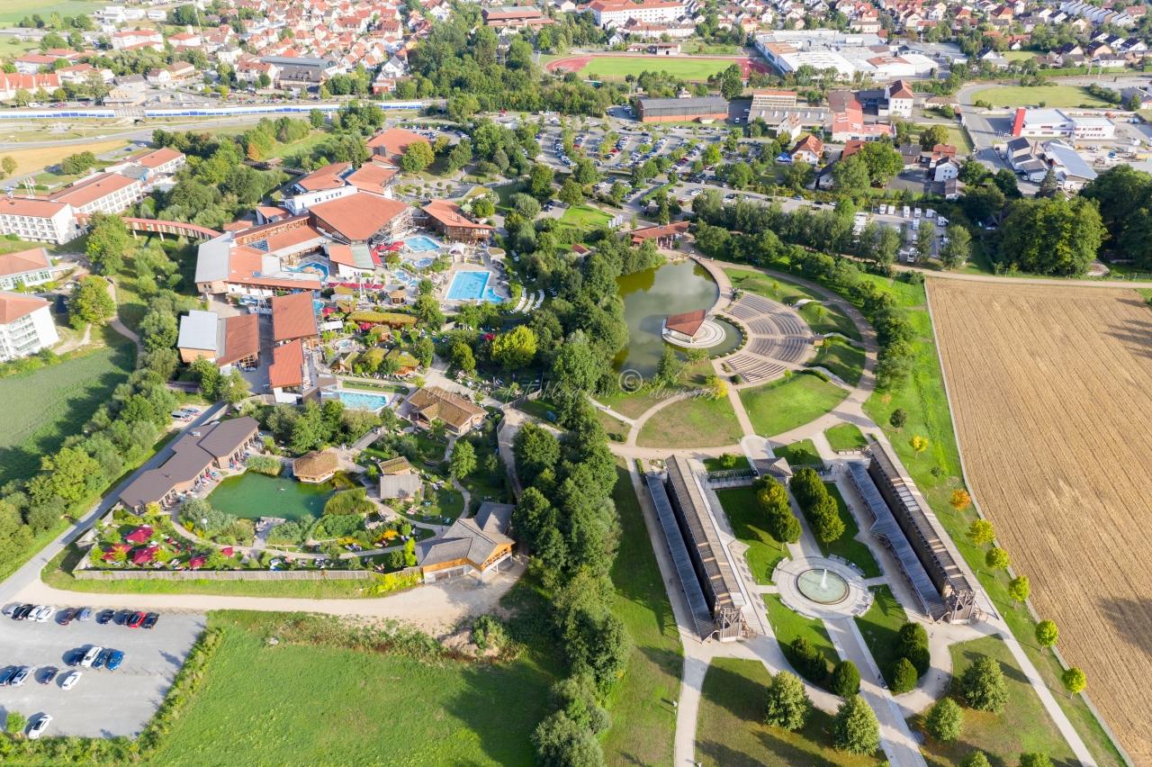 Therme Bad Staffelstein Luftbild  , luftbilder-deutschland.com © OliverRiess