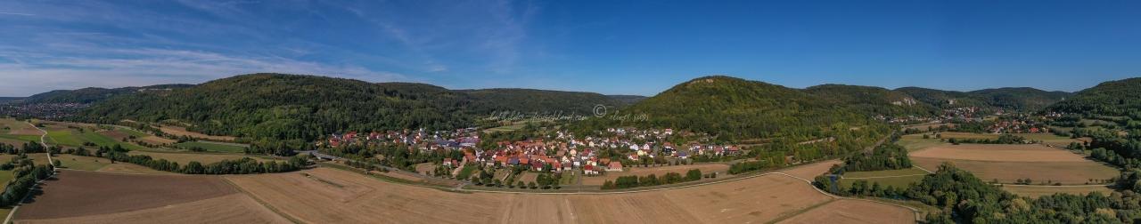 Luftbild Streitberg, Luftbild Wiesenttal, Luftbild Fränkische Schweiz, Luftbild PanoramaStreitberg