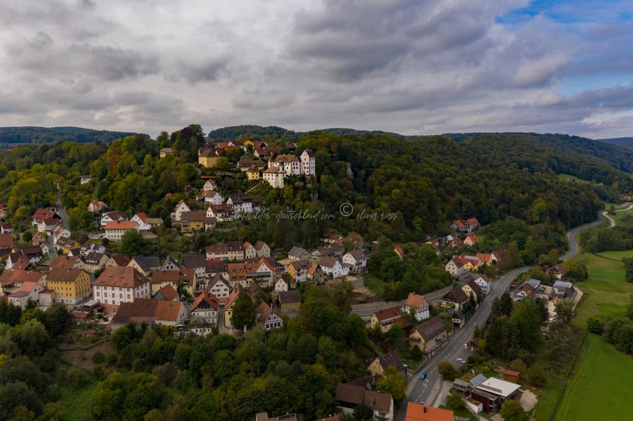 Luftbild Egloffstein, Luftbild Burg Egloffstein, Luftbild Landkreis Forchheim, Luftbild FränkischeSchweiz