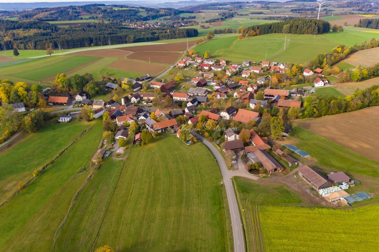 Luftbild Lützenreuth, Luftbild Gefrees, Luftbild Landkreis Bayreuth, LuftbildFichtelgebirge