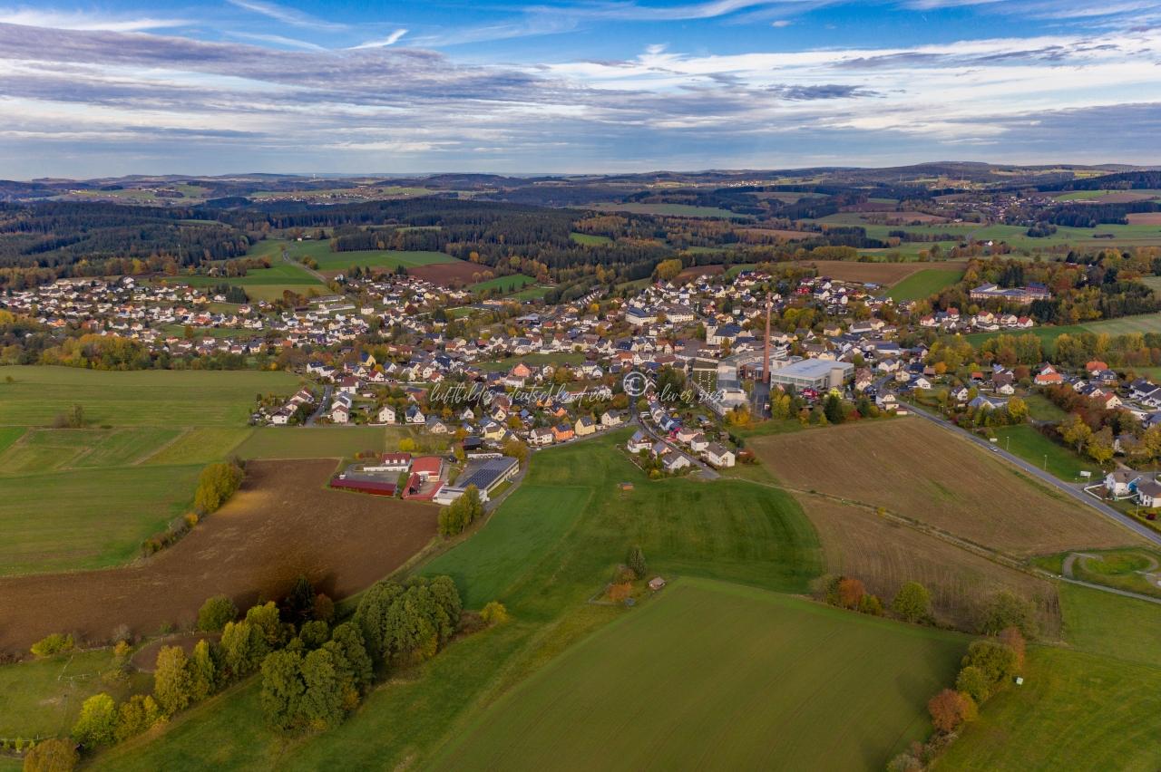 Luftbild Stammbach, Luftbild Landkreis Hof, Luftbild Fichtelgebirge, Luftbild HoferLand