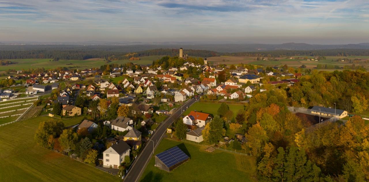 Luftbild Thierstein, Luftbild Burgruine Thierstein, Luftbild Landkreis Wunsiedel, Luftbild Fichtelgebirge, LuftbildFranken