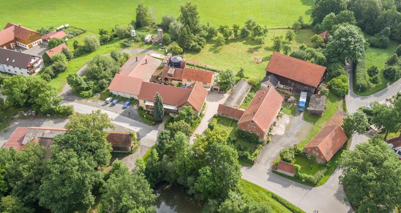 Luftbild Kolbs Bauernladen Bayreuth, LuftbildBayreuth