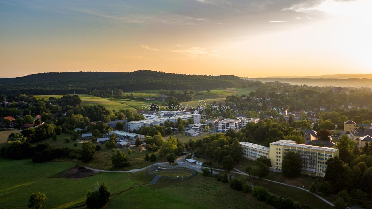 Luftbilder Bezirkskrankenhaus Bayreuth, Luftbild Bayreuth, LuftbildFranken