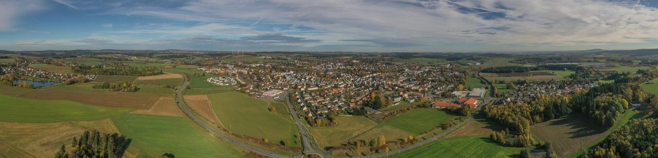 Luftbild Panorama Münchberg, Luftbild Landkreis Hof, LuftbildFranken