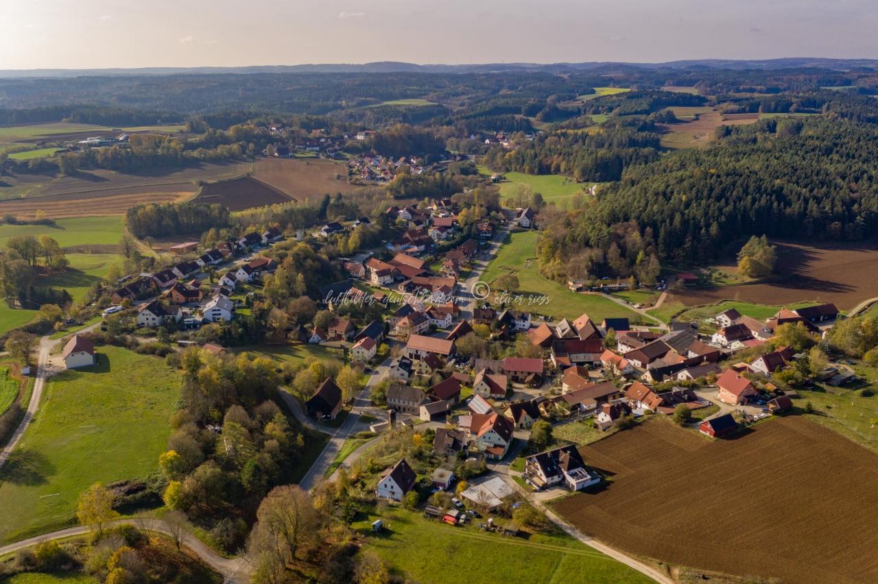 Luftbild Sachsendorf, Luftbild Aufseß, Luftbild Landkreis Bayreuth, Luftbild Fränkische Schweiz, LuftbildFranken